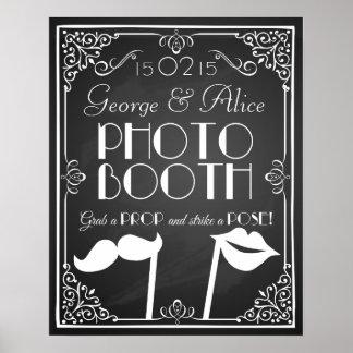 personalizado casando la pizarra de la muestra de póster