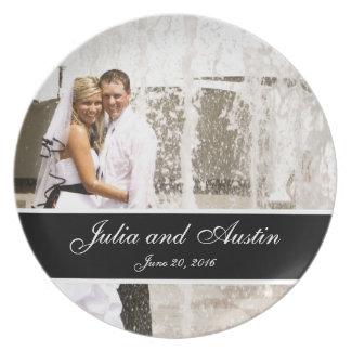 Personalizado casando la placa del recuerdo de la  platos para fiestas