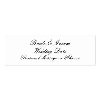 Personalizado casando la plantilla de la etiqueta  tarjetas de visita mini