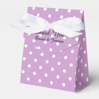 Personalizado casando púrpura de la lavanda de la cajas para regalos