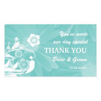Personalizado casando verde de la aguamarina de la tarjeta de visita