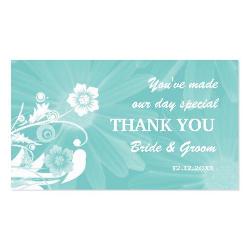 Personalizado casando verde de la aguamarina de tarjetas de visita