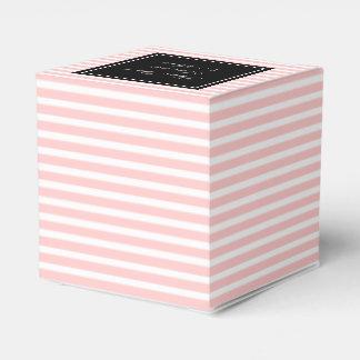 Personalizado casar favor encajona el rosa en cajas para regalos