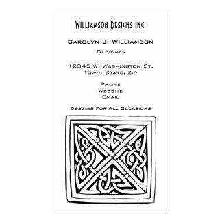 Personalizado céltico del blanco del negro del tarjetas de visita