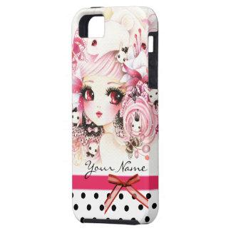 Personalizado - chica hermoso del animado con los iPhone 5 fundas