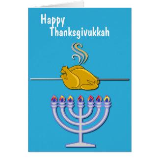 Personalizado chistoso de Thanksgivukkah Tarjeta De Felicitación