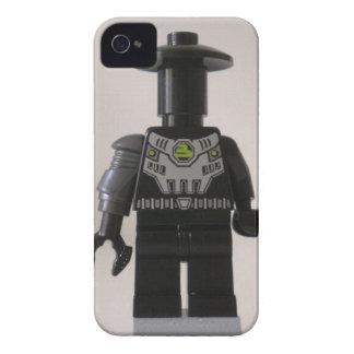 Personalizado cibernético Minifigure del soldado iPhone 4 Case-Mate Protector