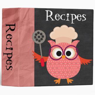 Personalizado cocinando la carpeta de la receta
