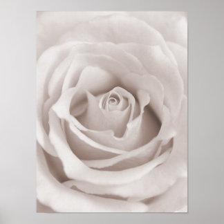 Personalizado color de rosa blanco y poner crema d impresiones