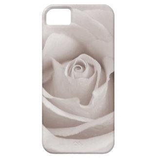 Personalizado color de rosa blanco y poner crema iPhone 5 protector