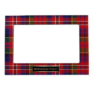 Personalizado colorido de la tela escocesa de tart marcos magneticos