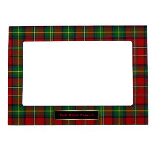 Personalizado colorido de la tela escocesa de tart marcos magnéticos para fotos
