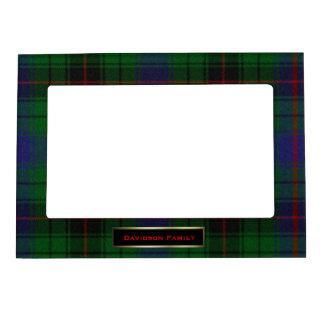 Personalizado colorido de la tela escocesa de tart marcos magnéticos
