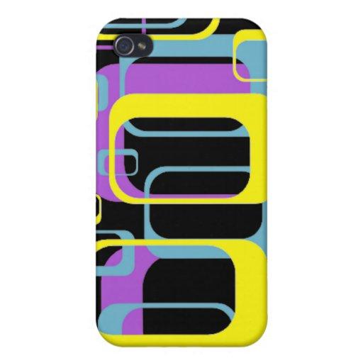 Personalizado colorido de los rectángulos 4 iPhone 4 carcasas