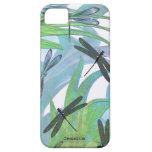 Personalizado colorido del extracto de la libélula iPhone 5 coberturas
