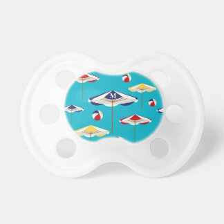 Personalizado colorido del parasol de playa y de chupetes para bebes