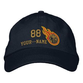 Personalizado compitiendo con nombre del número de gorras bordadas