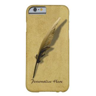 Personalizado con la pluma de canilla del vintage funda para iPhone 6 barely there