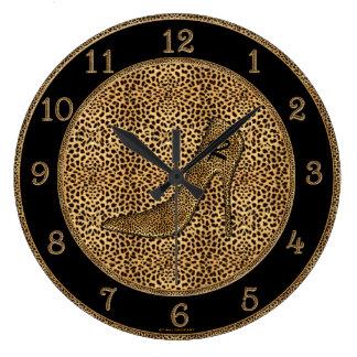 Personalizado con monograma de la impresión y del  reloj de pared