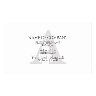 Personalizado con monograma del diseño del tarjetas de visita