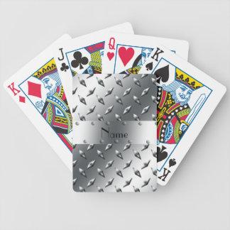 Personalizado con su acero conocido de la placa de baraja cartas de poker