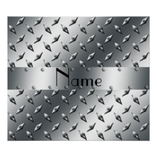 Personalizado con su acero conocido de la placa de póster