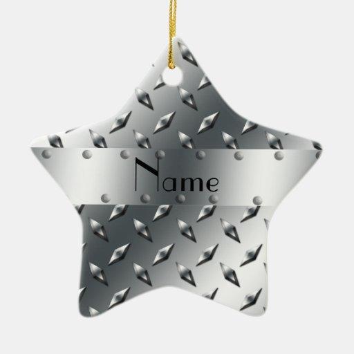 Personalizado con su acero conocido de la placa adorno de cerámica en forma de estrella