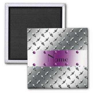 Personalizado con su acero conocido de la placa imán cuadrado