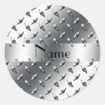 Personalizado con su acero conocido de la placa etiqueta redonda