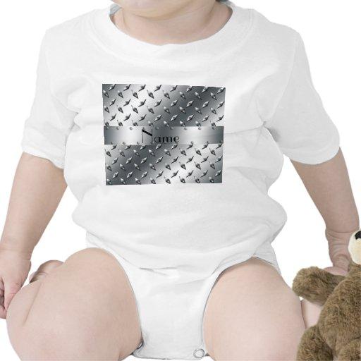 Personalizado con su acero conocido de la placa traje de bebé