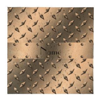 Personalizado con su acero conocido de la placa posavasos
