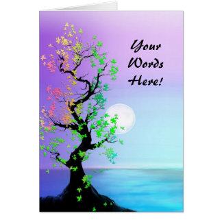 Personalizado con su árbol de las palabras de la t tarjeta de felicitación