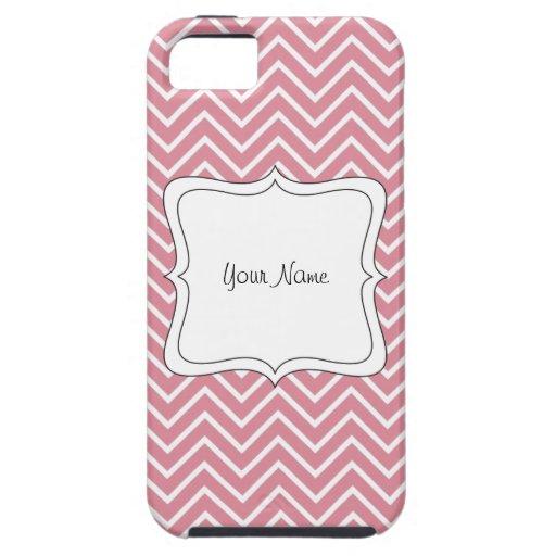 personalizado con un galón rosado y blanco iPhone 5 fundas