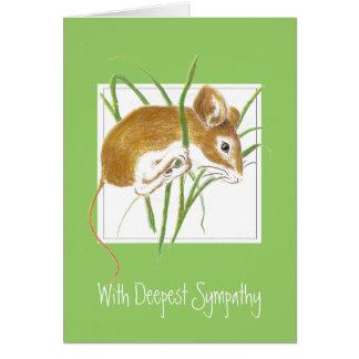 Personalizado, condolencia, ratón dulce tarjetas
