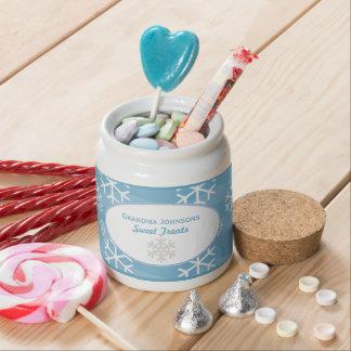 Personalizado: Copo de nieve: Tarro del caramelo Platos Para Caramelos