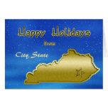 Personalizado cósmico del mapa de Kentucky del cie Felicitaciones