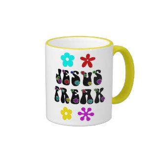 Personalizado cristiano retro anormal de Jesús Taza A Dos Colores