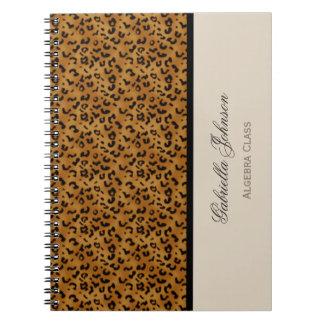 Personalizado: Cuaderno del estampado leopardo
