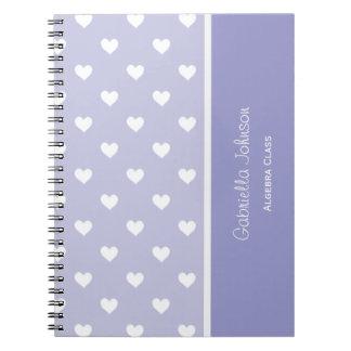 Personalizado Cuaderno púrpura del amor