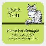 Personalizado de Art™ del Apagado-Correo del gato Calcomanías Cuadradas Personalizadas