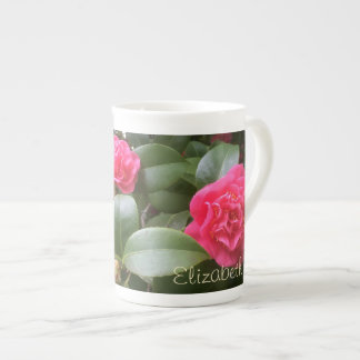 Personalizado de Camelia floral Taza De Porcelana