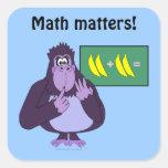 Personalizado de cuenta divertido de la matemática colcomanias cuadradas personalizadas