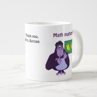 Personalizado de cuenta divertido de la matemática taza grande