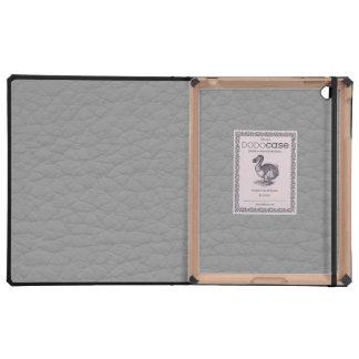 Personalizado de cuero gris del Grunge retro iPad Fundas