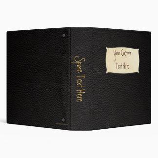 """Personalizado de cuero negro 1,5"""" carpeta"""