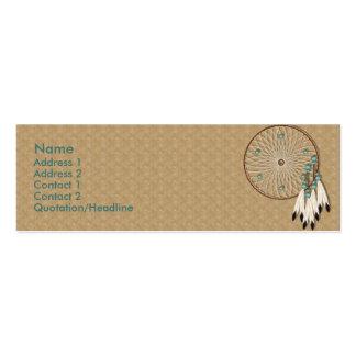 Personalizado de Dreamcatcher del nativo americano Tarjetas De Visita Mini