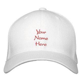 Personalizado de encargo del casquillo/del gorra gorra bordada
