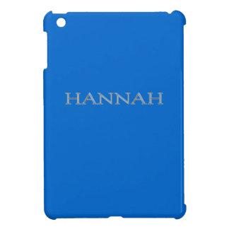 Personalizado de Hannah aumentado poniendo letras