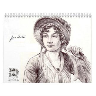 Personalizado de Jane Austen con un calendario imp