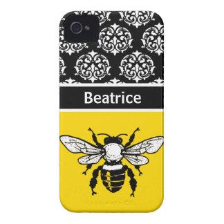 Personalizado de la abeja de la miel iPhone 4 coberturas